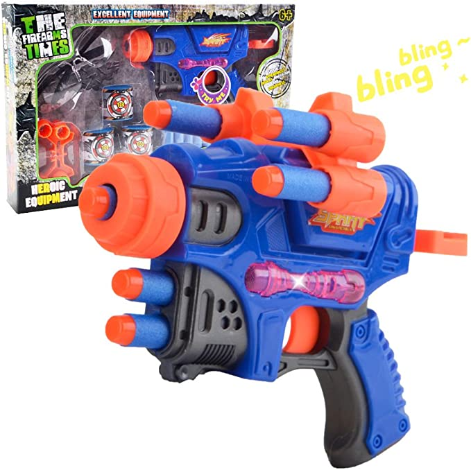 2 confezione Diamond Pistol-Pistola Schiuma EVA-Colori PISTOLA pixel 8-BIT