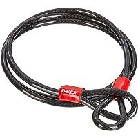 EVEREST FITNESS Câble Boucle antivol, Longueur 200 cm, Robuste et résistant - Cable antivol, antivol Velo, câble de sécurité