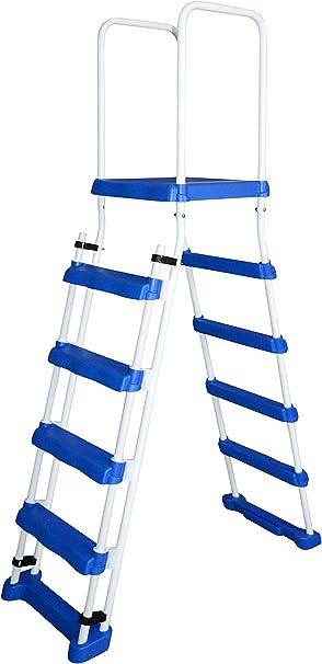 SPIRATO Spiranto - Escalera de Seguridad con Plataforma para Piscinas de hasta 1,22 m de Altura: Amazon.es: Jardín