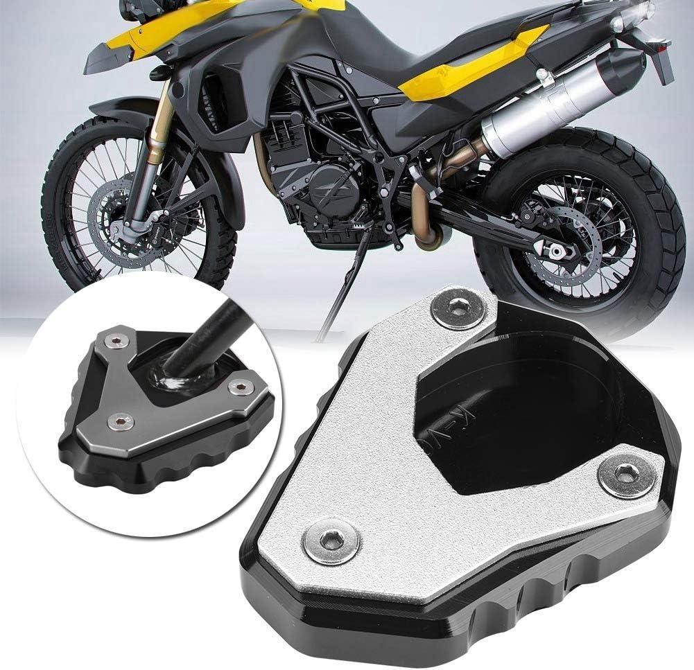 Motorrad Cnc Standfuß Seitenständer Vergrößerungs Verlängerungspad Motorrad Seitenständer Unterstützung Fuß Verbreiterung Ständer Pad Für Versys Kle 650 15 18 Auto