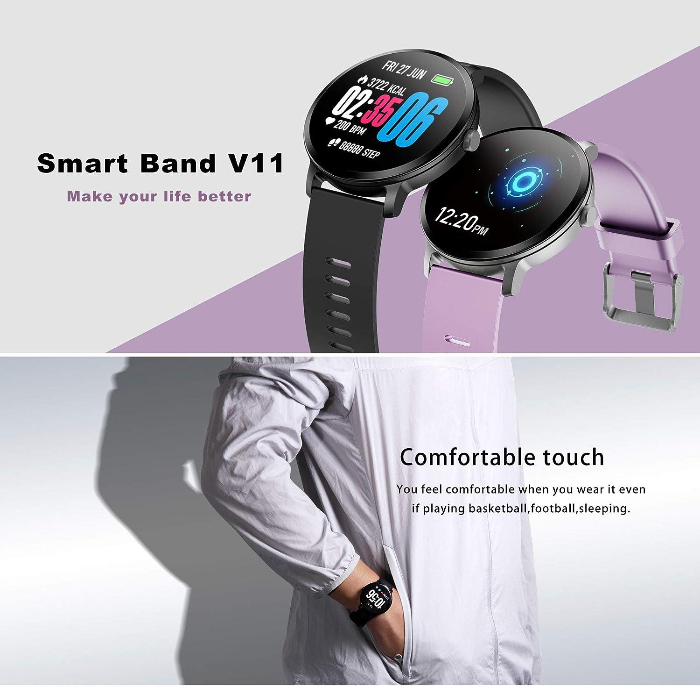Amazon.com: XXxx V11 Smart Watch IP67 Waterproof Tempered ...