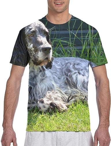 Camiseta de Manga Corta cómoda para Hombre English Setter Dog ...
