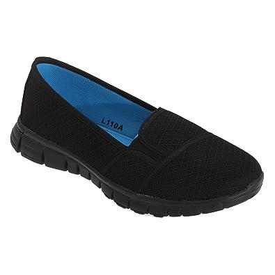 Dek Superlight Womens/Ladies Memory Foam Slip On Shoes (6 US) (Black