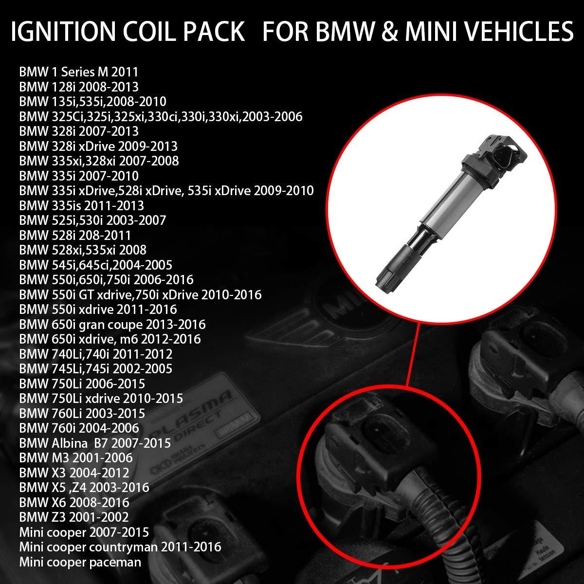 Bobina de encendido para BMVV 320 325 E46 520 E39 X3 E85 Z4 M54 S54 12137594935