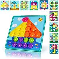 NextX Puzzle 3D a Bottoni a Forma Cappello dei Funghi – Giocattolo a Chiodini Educativo Prima Infanzia – Regalo Ideale per Bambini 3+ Anni
