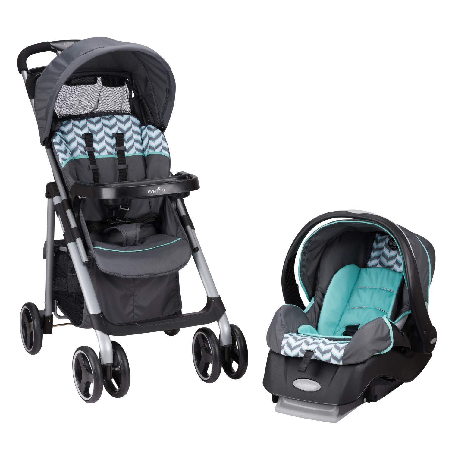 Evenflo Vive Travel System with Embrace Infant Car Seat, Spearmint Spree by Evenflo (Image #17)