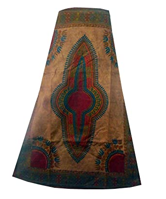 c05bea6a1c7 Amazon.com  Decoraapparel Womens Wrap Around Skirt African Dashiki Maxi  Long Skirts One Size Bronze  Clothing