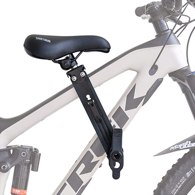 Bike Kids Seat Mountain Bike Child Front Seat Portable Bike Front Mounted Safety Seat with Back Rest and Foot Pedals,Mountain Bike Saddle for Children Aged 2 to 8
