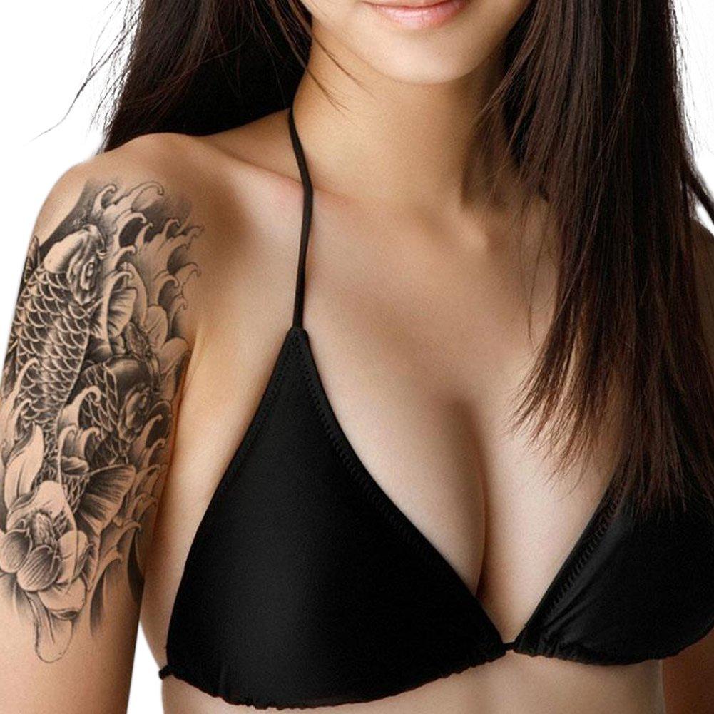 Eleery 10 Pc Unisex Temporary Fake-Slip On Tattoo Sleeves Arm Kit Tattoo-Schutzhülle (**Erwachsene**, A) 01-0010