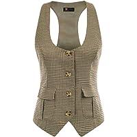 KANCY KOLE Chaleco Victoriano para Mujer Mediano Steampunk Vest Chaleco de Traje para Mujer