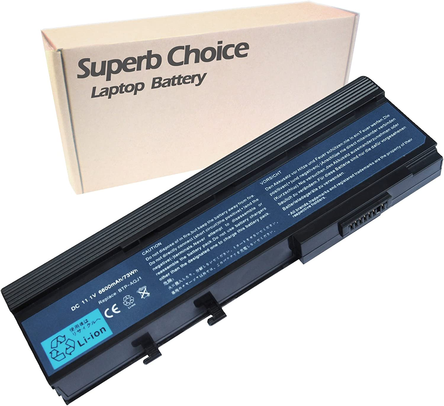 Superb Choice 9-Cell Battery Compatible with TravelMate 6292-101G16N 6292-102G16N 6292-301G16MN 6292-301G16N 6292-302G16Mi 6292-302G16Mn 6292-302G16N 6292-602G16Mn 6292-602G25Mn 6292-6700.