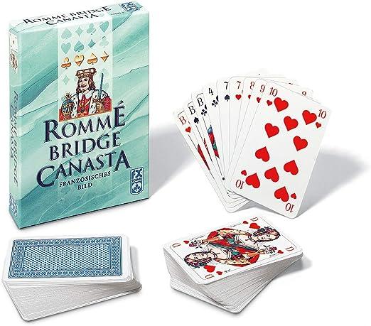 Gioco DI CARTE CANASTA-POKER-BRIDGE foglio 2x55