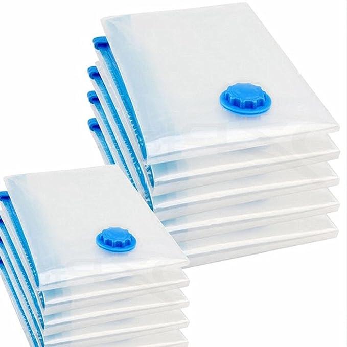 ahorro de espacio en la bolsa de ropa 70x120 cm logei/® 10 uds bolsa de almacenamiento de bolsa de la aspiradora de vac/ío para ropa de cama y prendas de vestir 60x80