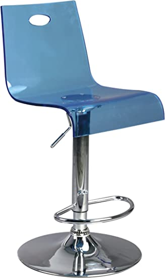 Barhocker Blau eliza tinsley durchsichtiger verstellbarer barhocker blau amazon de