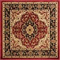 Deco Rings Red Geometric Modern Casual Area Rug Easy to Clean Stain / Fade Resistant Shed Free Abstract Contemporary Color Block Boxes Lines Soft Living Dining Room Rug
