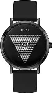 Guess Reloj Analógico para Hombre de Cuarzo con Correa en Silicona W1161G2