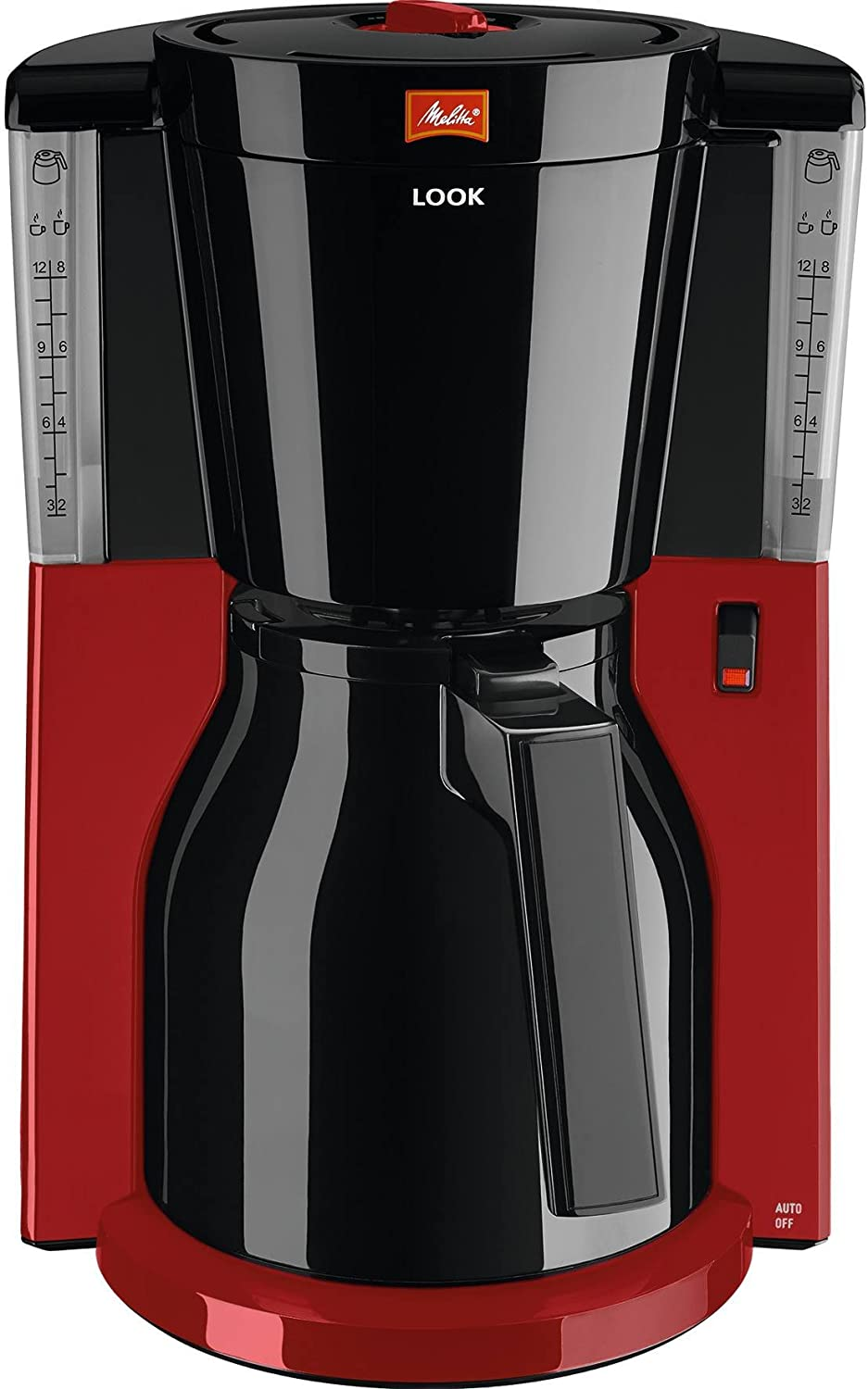 Melitta 1011 Look IV Therm Coffee Filter Machine - Red 1011-20