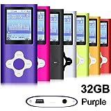 G.G.Martinsen Plum Button 1.78 LCD Screen MP3/MP4 Portable MP3Player , MP4 Player , Video Player , Music (PURPLE)