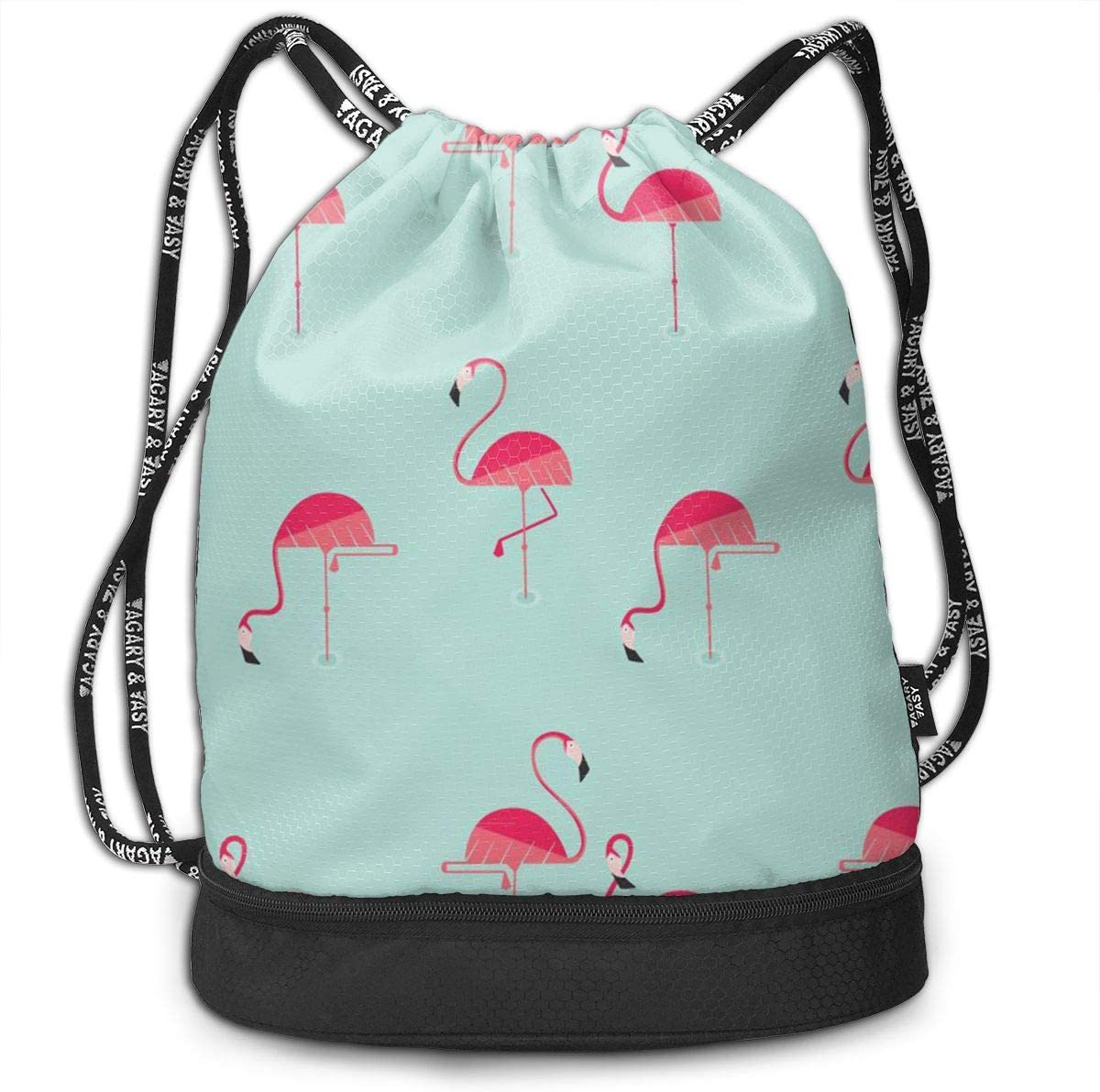 Zol1Q Lightweight Waterproof Large Storage Drawstring Bag for Men /& Women Flamingo Cinch Backpack Sackpack Tote Sack