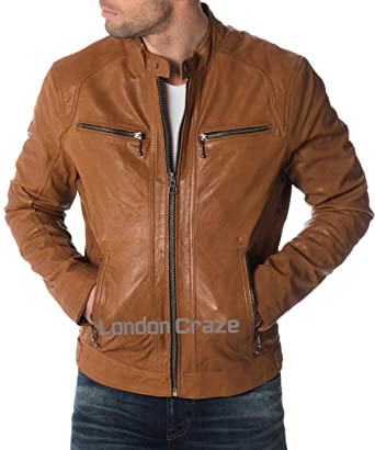 Men S Leather Jacket Stylish Motorcycle Biker Genuine Lambskin 238