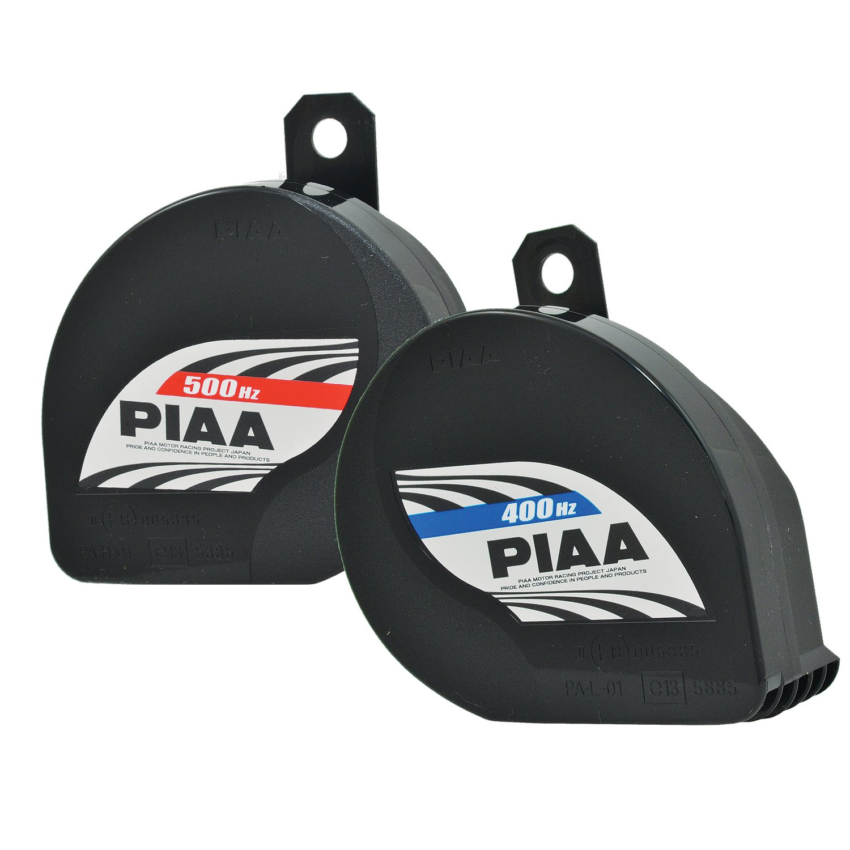 PIAA 85114 Slim Line 400Hz + 500Hz 112db Sports Horn Kit