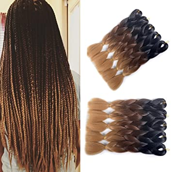 Amazon Com Mshair Ombre Jumbo Braiding Hair Extension Synthetic