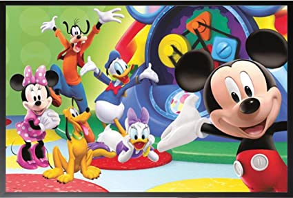 Diseño de Mickey Mouse - Clubhouse Together 36 x 24 Póster enmarcado ...