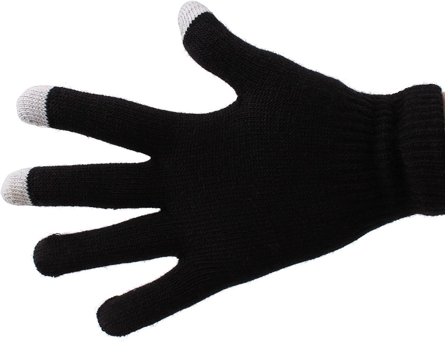 DURAGADGET Black Touchscreen Compatible Gloves - Compatible with The ASUS Google Nexus 7 II | The Original Google Nexus 7 8GB 16GB 32GB | Acer Iconia Tab A510 & A100 Tablet (Size Large)