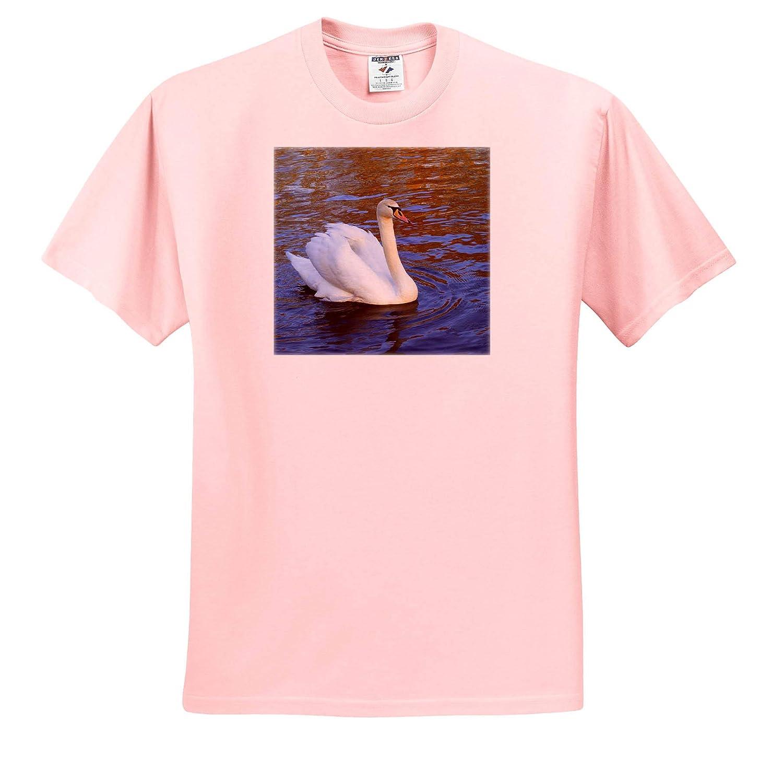 3dRose Danita Delimont - Adult T-Shirt XL ts/_313765 Swan in Keukenhof Gardens Swans Netherlands