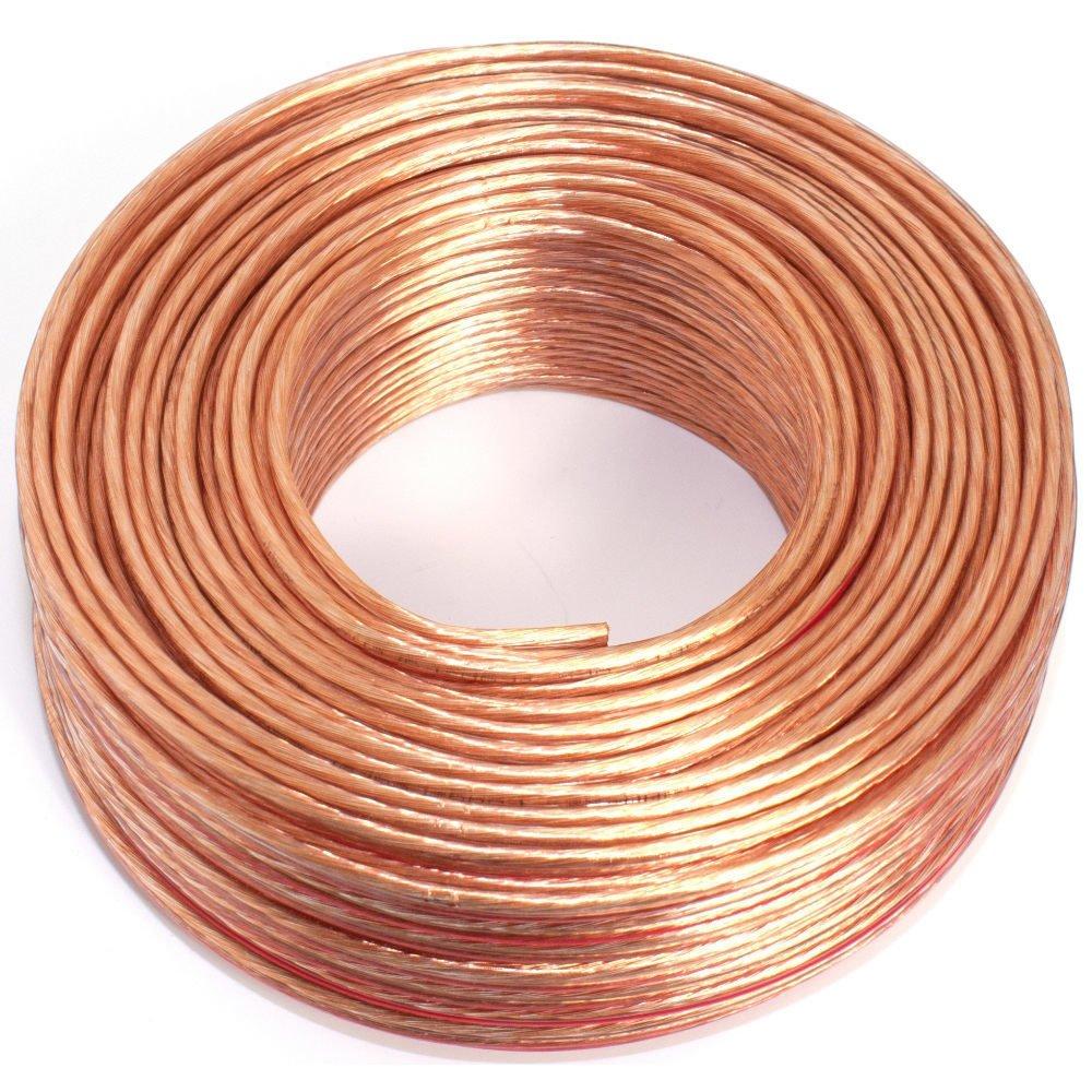 2/x 1,5/mm/²//–/Transparente//–/50/m//–/CCA//–/Cable de Audio//–/Caja de Cable Cable para Altavoz