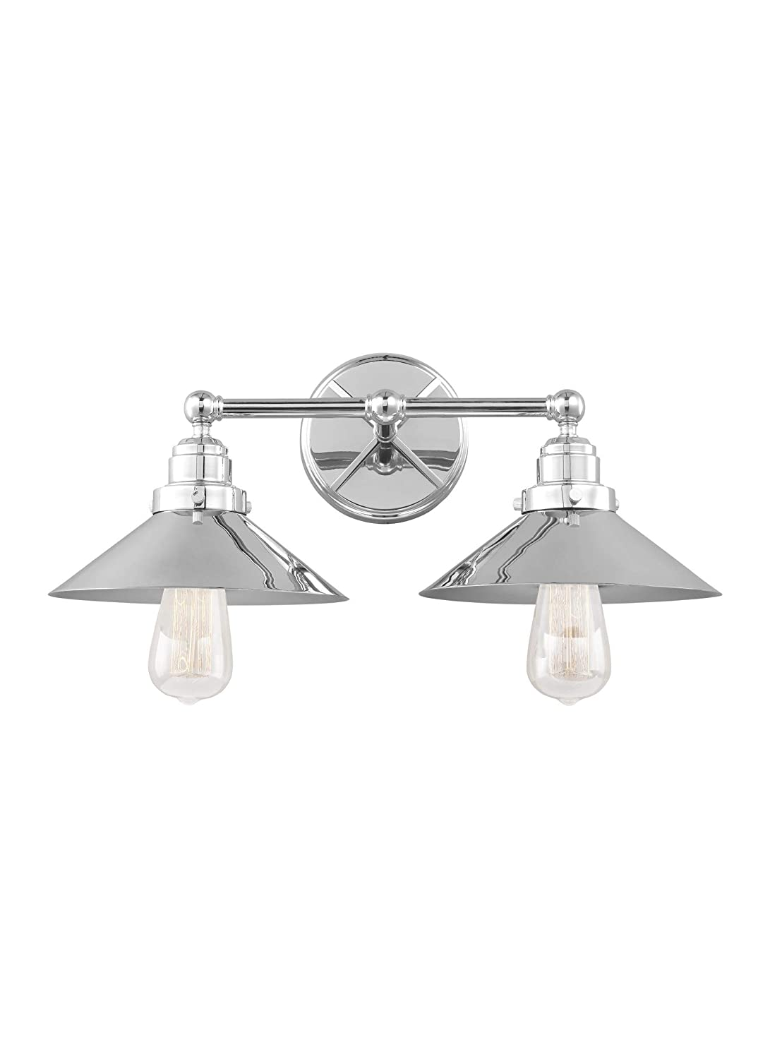 Feiss VS23402CH Hooper Wall Vanity Bath Lighting, Chrome, 2-Light 20 W x 8 H 150watts