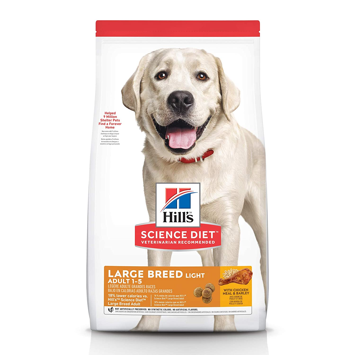 Amazon.com: Hills Science Diet Adulto Luz Perro Alimento ...