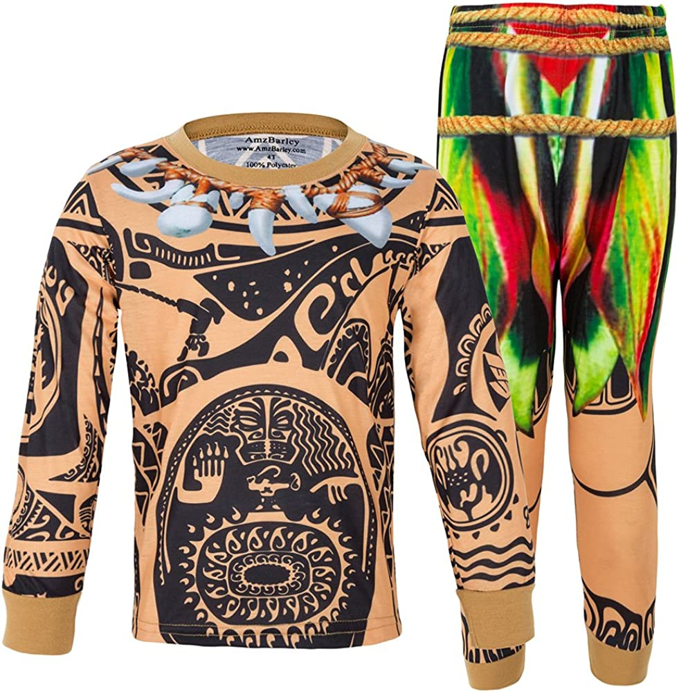 AmzBarley Maui Kids Boys Pajamas Set Clothes Long//Short Sleeve Cosplay Sleepwear Dress up