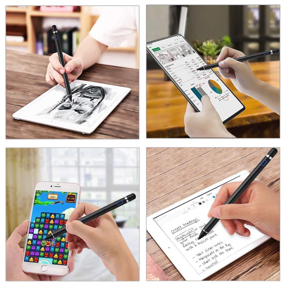 f/ür iOS und Android Stylus Pen f/ür Touchstift Lenovo Tablet ,Mini MPIO Kapazitiver Wiederaufladbarer Aktiver Bleistift mit 1,5 mm Ultrafeinen Spitzen f/ür Apple iPad Pro iPhone Air Samsung