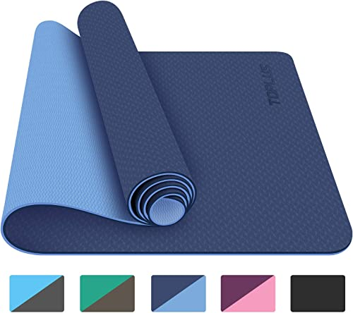 TOPLUS Yoga Mat – Classic 1 4 inch Pro Yoga Mat Eco Friendly Non Slip Fitness Exercise Mat with Carrying Strap-Workout Mat for Yoga, Pilates and Floor Exercises