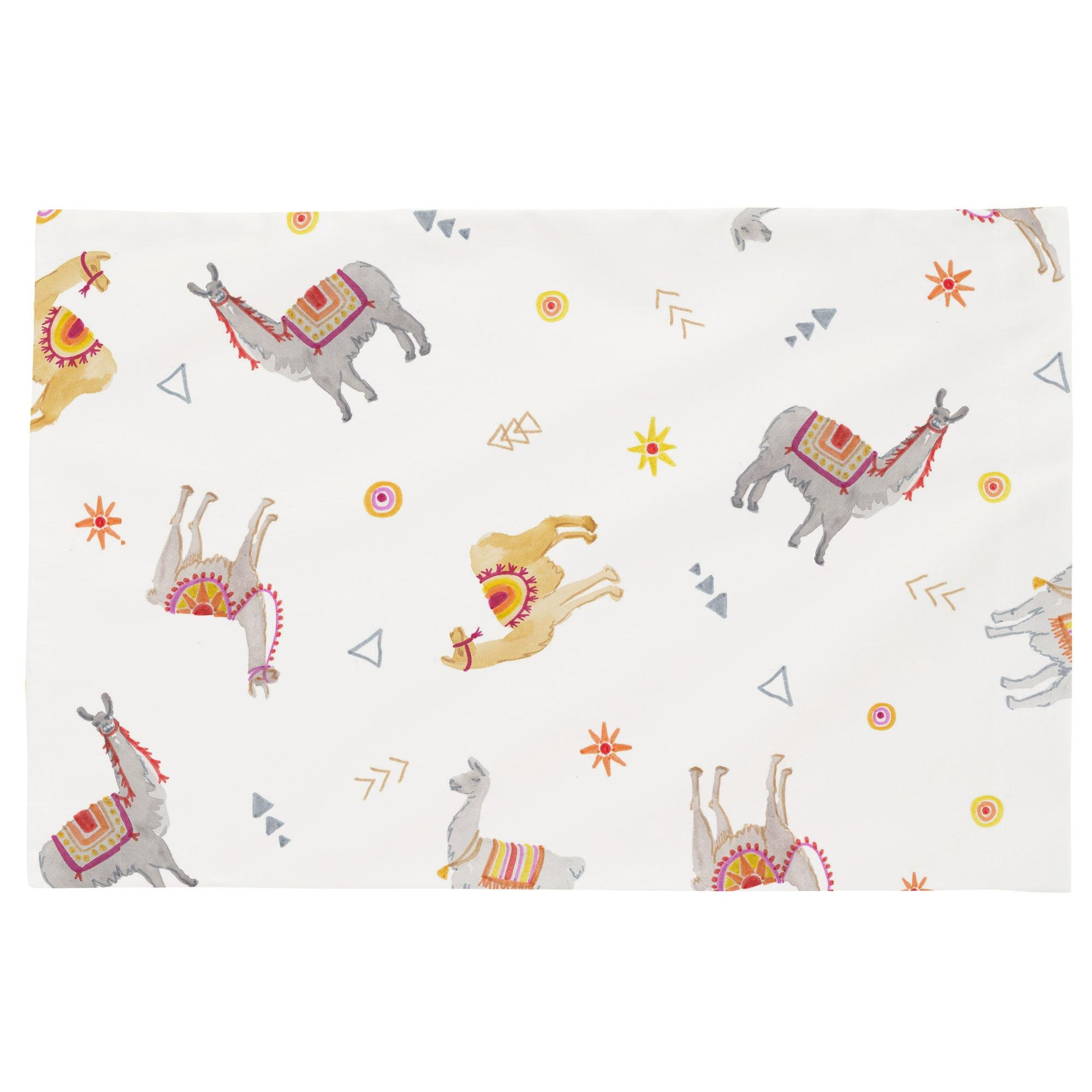 Carousel Designs Festive Llamas Toddler Bed Pillow Case