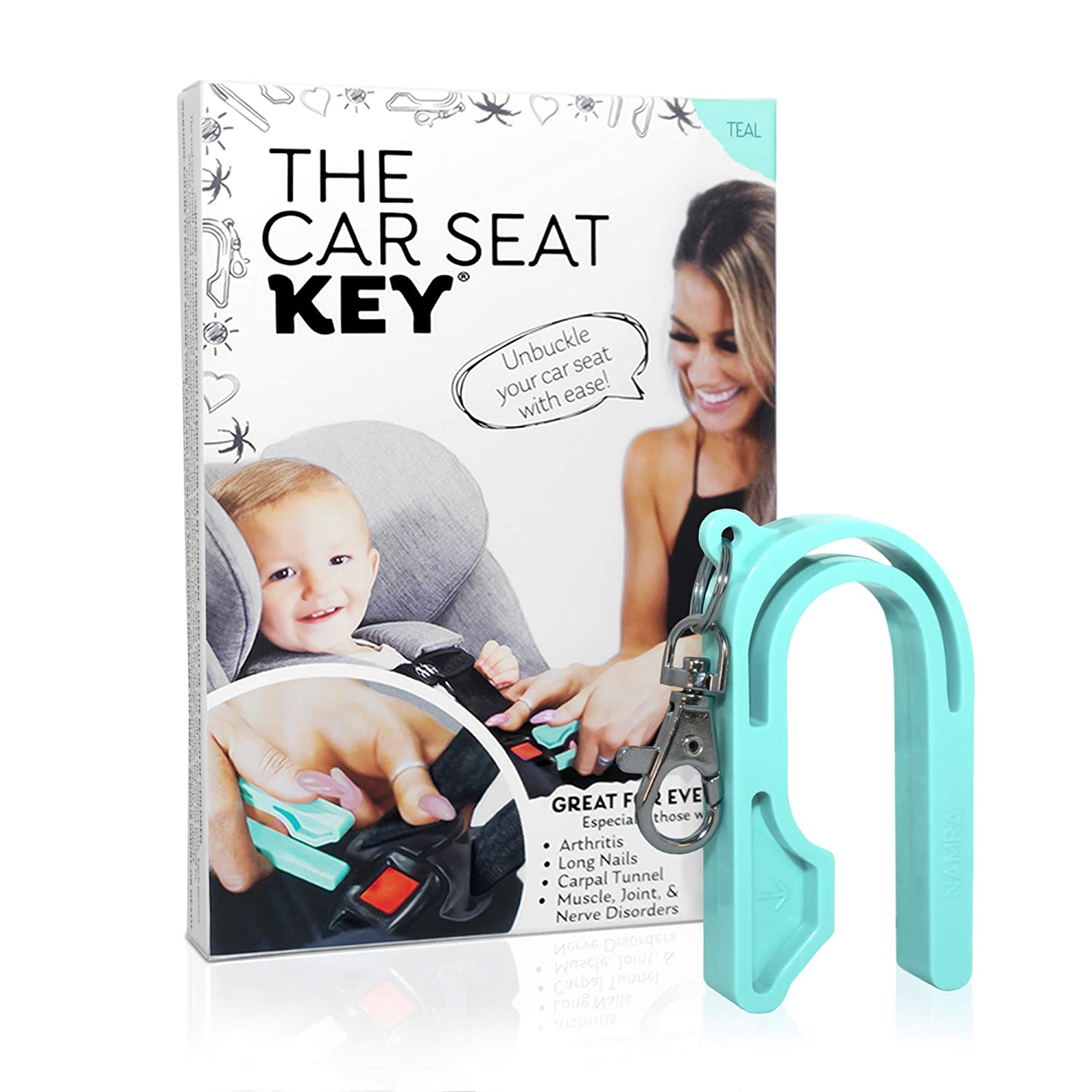 The Car Seat Key Teal 2019 New Easy Buckle Tool Helps Kids and Adults to Unbuckle Easy Car Seat Unbuckle