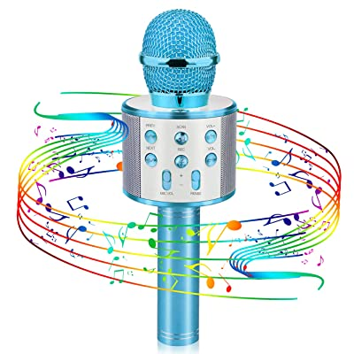 Christmas Gifts for Kids, Viposoon Wireless Portable Handheld Karaoke Microphone Bluetooth for Kids Best Gifts Kids Girls Gifts Games Age 5-14 Birthday Gifts for Girls Boys: Musical Instruments