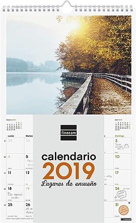 Finocam 780553619 - Calendario de pared 2019: Amazon.es: Oficina y ...