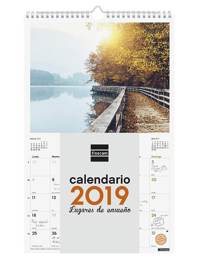 Finocam 780563619 - Calendario de pared 2019