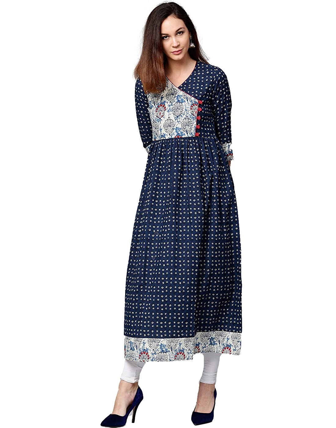Women's Cotton Angrakha Kurta