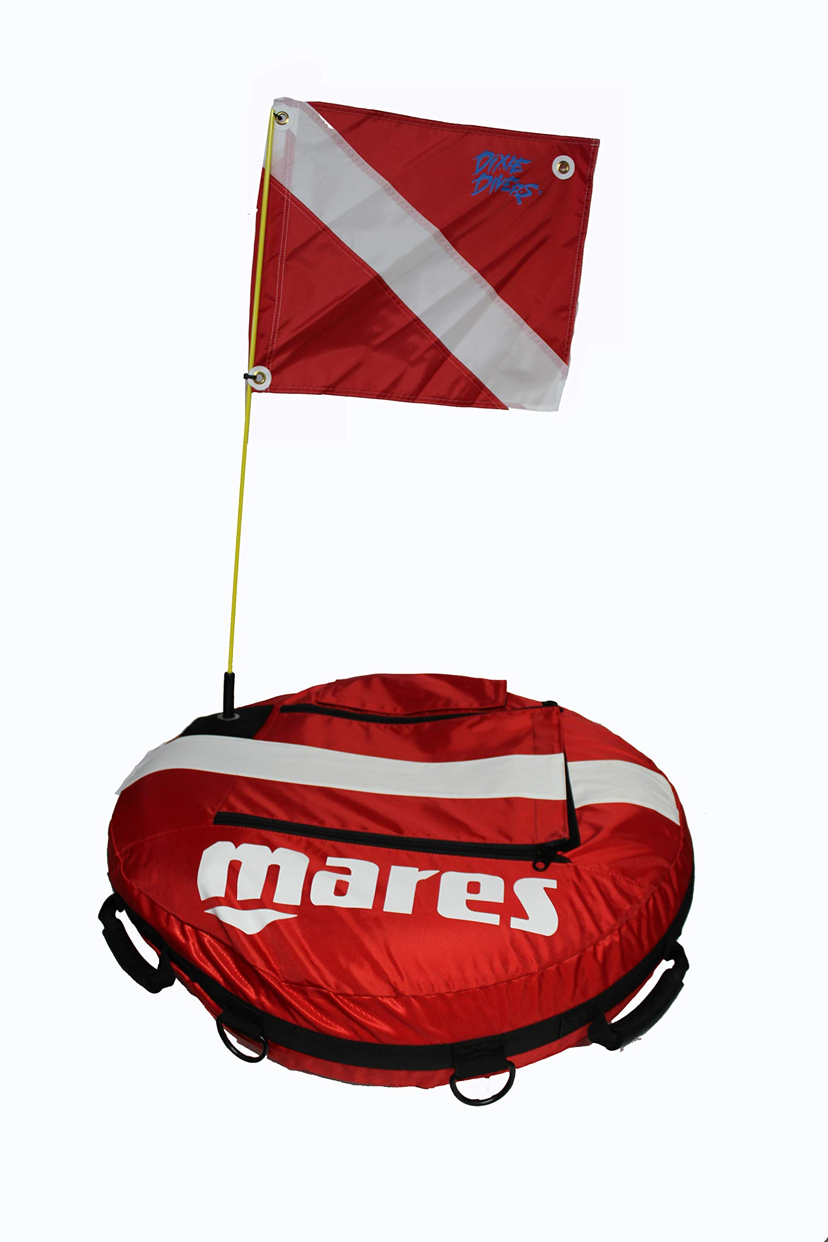 Mares Training Float Buoy with DXDIVER Legal Diving Flag Safety Marker Freediving Instruction Scuba Snorkeling