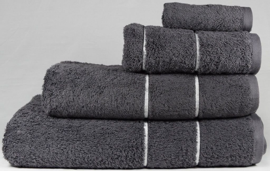 linenHall Ultimate 700gsm Towel Bale - 4 Piece Set In Charcoal BuyTowels.co.uk
