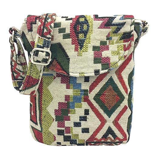 5e9534a2b0a6 Amazon.com  Tramzzd M Cute Cloth Satchel Saddle Zipper Pocket Swing pack Bag  Collection Messenger Bag Crossbody Shoulder Handbags Women Travel Purse  Wallet ...