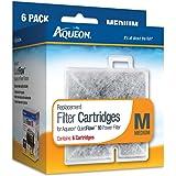 Aqueon Water Filter Cartridge Replacement 06085 Medium 10 Gallon Aquarium, 6 Pack