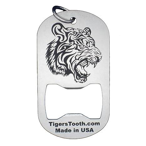 Amazon.com: Tigre diente de la etiqueta de perro Abridor de ...