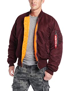 428db91e8 Alpha Industries MA-1 Blood Chit Flight Bomber Chamarra para Hombre ...