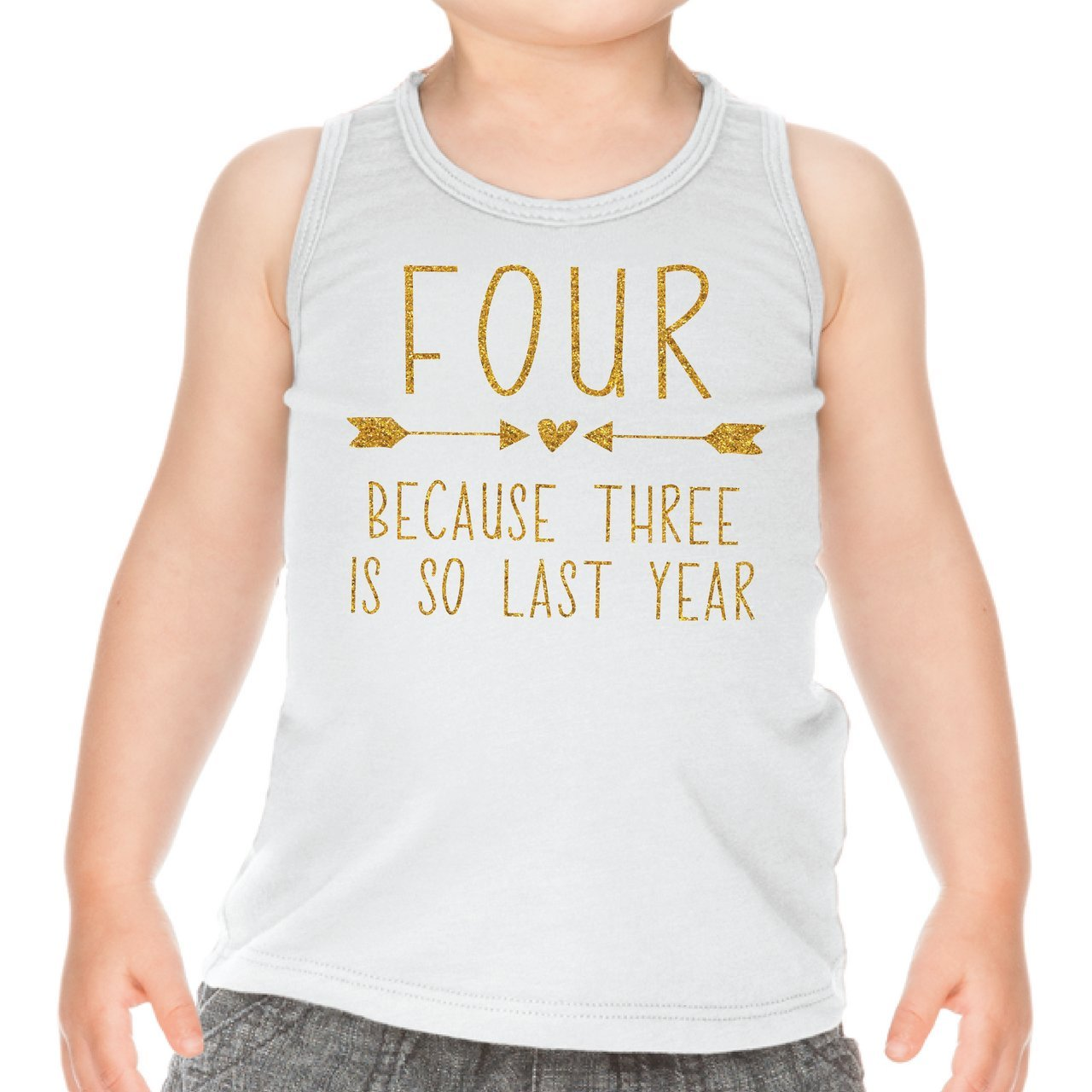 Fourth Birthday Outfit Girl Four Year Old Girl Birthday Tank Top (4T)