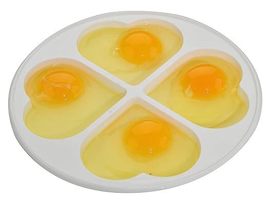 Home-X - Escalfador de huevos para microondas con tapa con forma ...