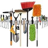 Sostén de la fregona en tapiz de la pared de funciones múltiples ,Estante de herramientas para el hogar, jardín, garage…